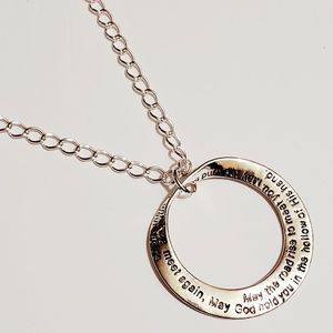 Silver Quote Engraved Necklace